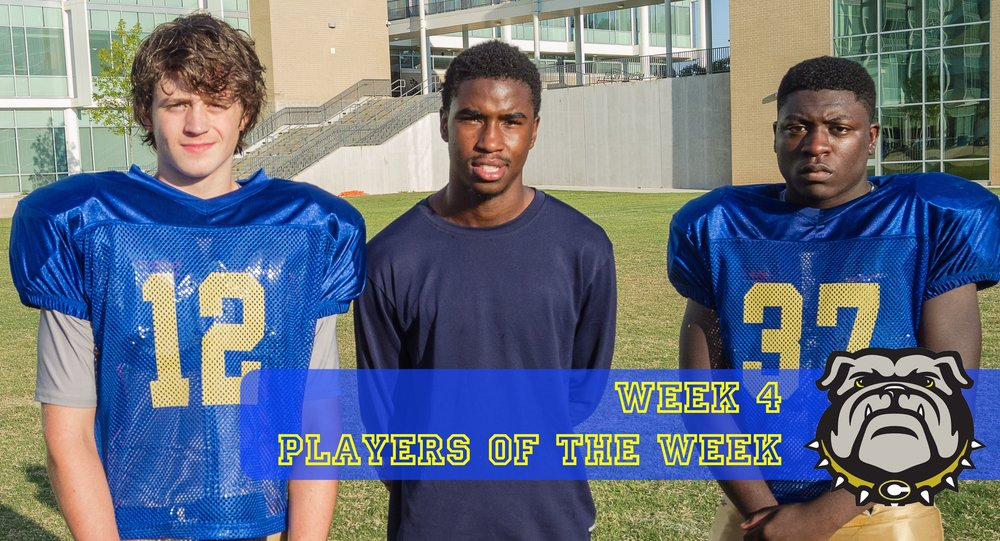 Conner Whitley, Jansen King, and Levinte Washington were Week 4's Players of the Week.