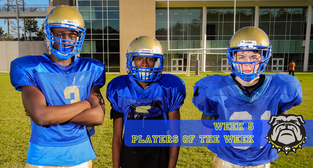 Gavin Holton, Zamyan Wilder, and Jason Allen were Week 5 Players of the Week.