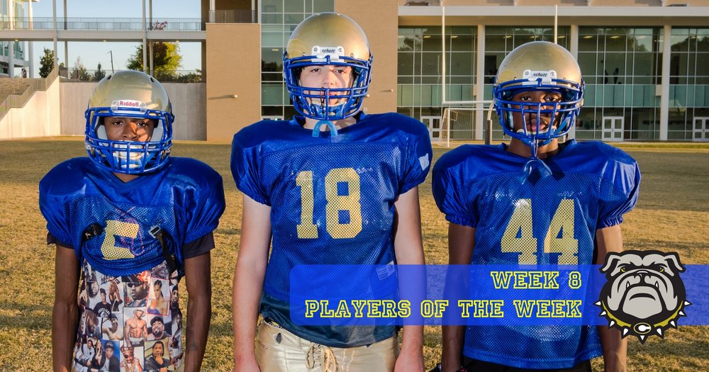 Zamyan Wilder, Stuart Steele, and Adrian Russ were Players of the Week for Week 8.