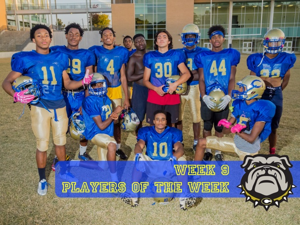 Arthur Murry (offense), Roberto Paz (special teams), and The Defense (Sherman Allen, Josh Tate, Jansen King, Levinte Washington, Gavin Holton, Adrian Russ, Shanti Williams, Princeton Byrd, Tyler McClinton, and Zamyan Wilder were Players of the Week.
