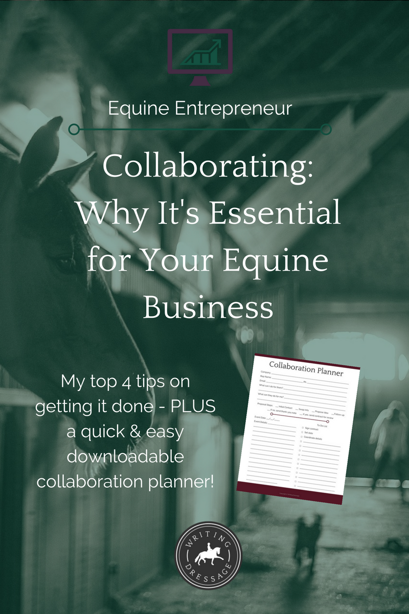 Collaborating: Why it's essential for your equine business + my top 4 tips to get it done (BONUS: Download your free collaboration planner!)