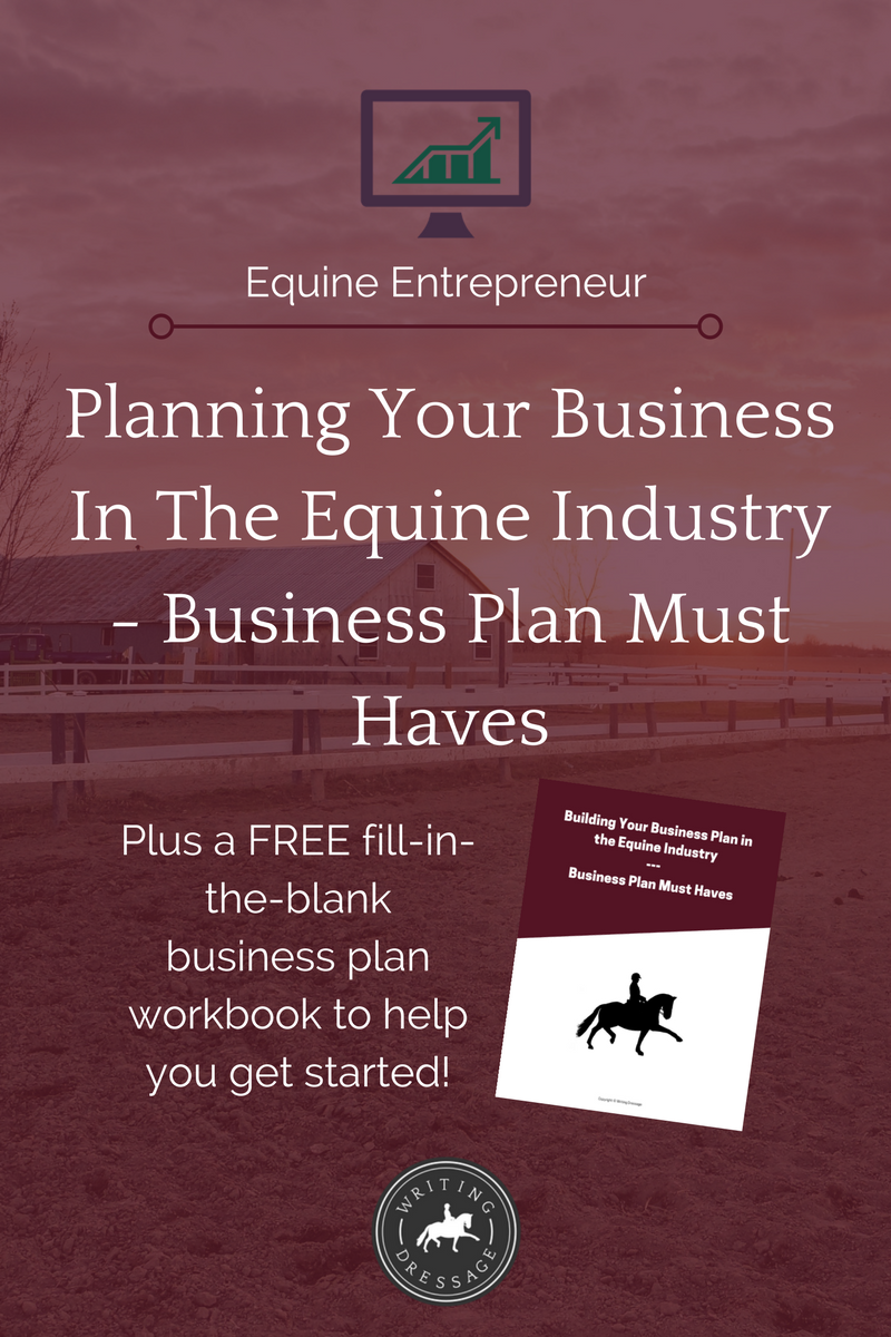 It can be hard sometimes to know what you should put in your business plan, and even harder to know when you've got enough content. The horse industry is no exception. Click the pin to read about what sections I consider must-haves in your equine business plan.