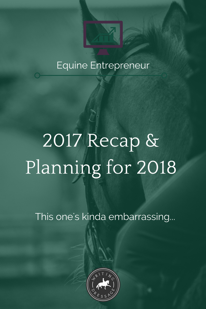 In today's blog post, I talk about everything that happened during 2017--the good, the bad, the ugly, and the downright embarrassing--and what I'm planning to do in 2018 to make sure it's a much better year. Click the pin to read more!