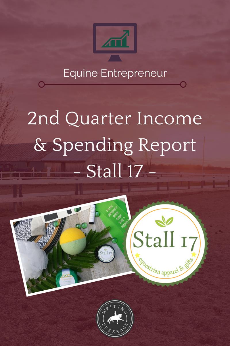 2nd Quarter income & spending report - Stall 17