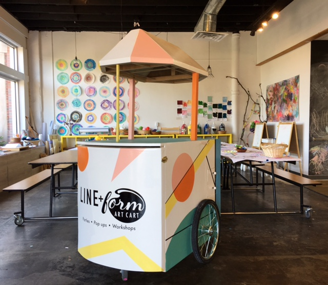 The Line+Form Art Cart!
