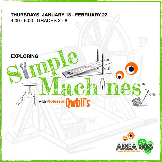 EXPLORING SIMPLE MACHINES  January 18 - February 22 | Grades 2-8 | $60