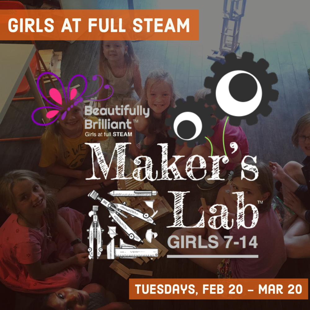 Maker's Lab   February 20 - March 20  | Grades 2-8 Tuesdays 4:00 - 6:00