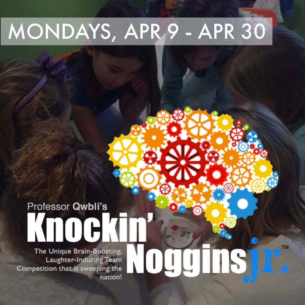 Knockin' Noggins Jr   April 9 - April 30 | Grades 2-8 Mondays 4:00 - 6:00