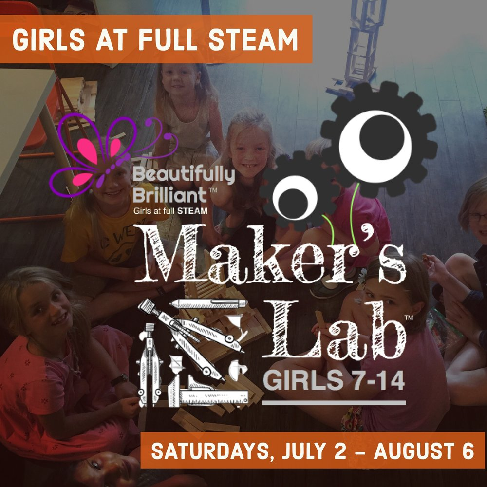 Maker's Lab   July 14 - August 18  | Grades 2-8 Saturdays 9:00 - 11:00