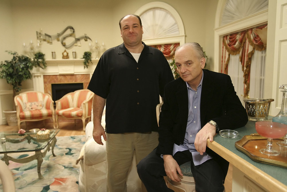 TV Legacy: David Chase, creator of 'The Sopranos,' and the late James Gandolfini. Image via the Daily Beast.