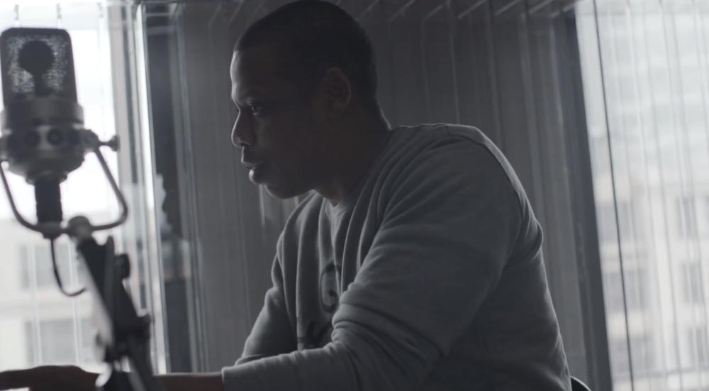 Jay-Z in studio. Via Forbes.