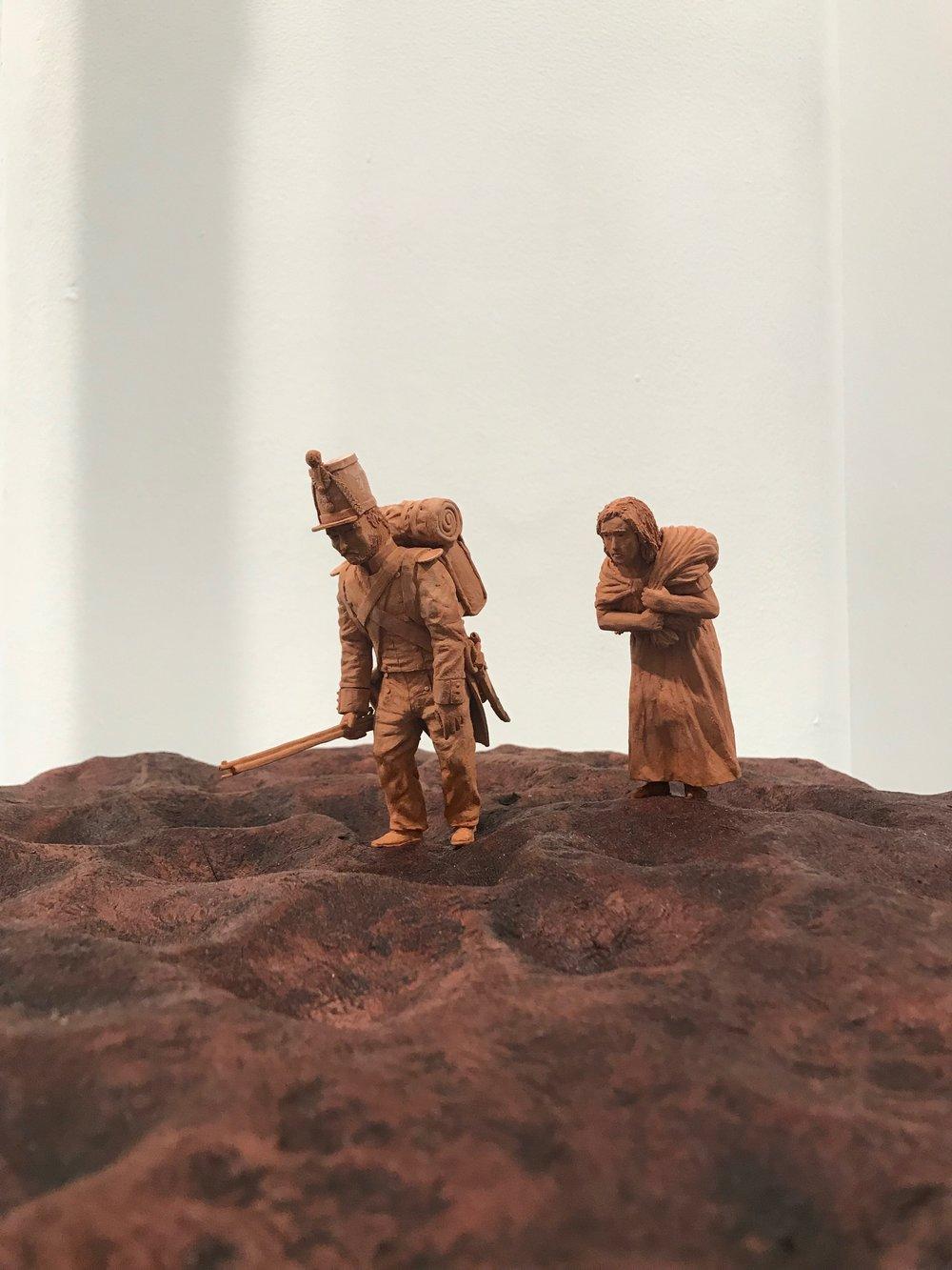 'Border Crossing' - David Siever. 16.5x22x5. Ceramics.