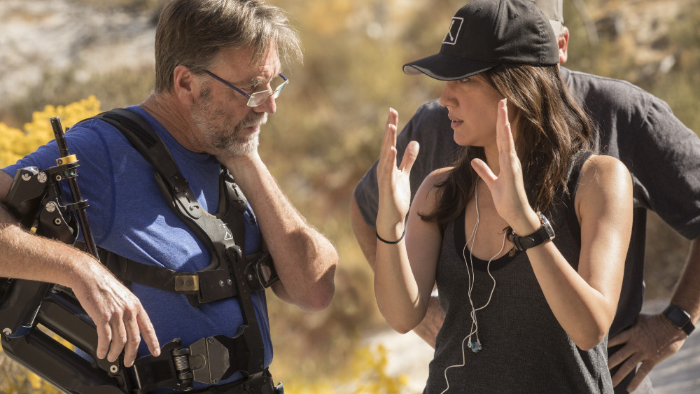 Lisa Joy on the set of 'Westworld.' Image via Variety.