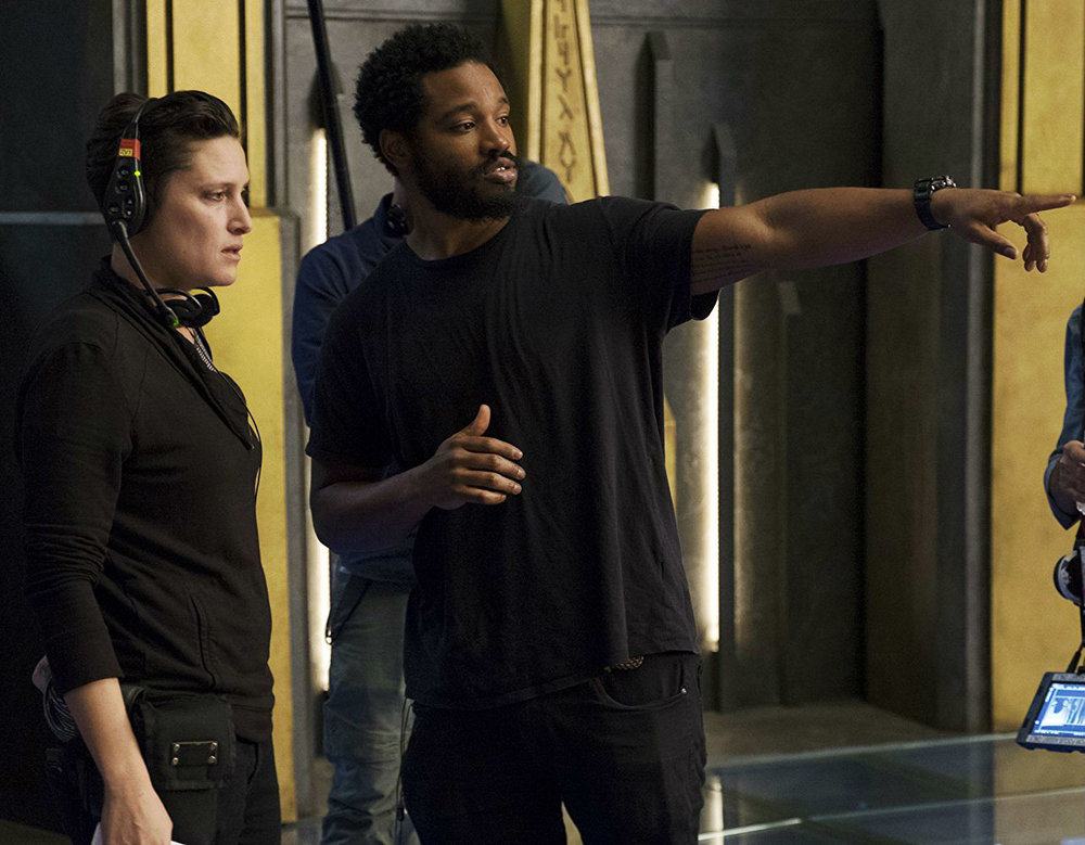 Ryan Coogler and Rachel Morrison on the set of Black Panther. Image via IMDb.