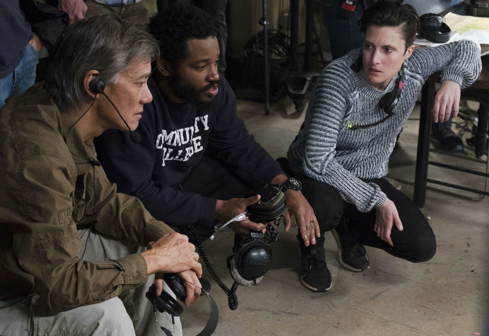 Coogler and Morrison on set. Image via  American Cinematographer.