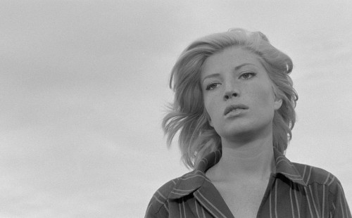 Monica Vitti in 'L'Avventura'. She appeared in four of these five films. Image via Film Forum.
