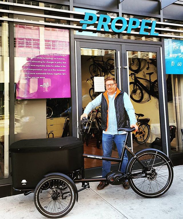 @propelbikes is the first and only #butchersandbicycles dealer in NYC. #builttotilt #familybikes