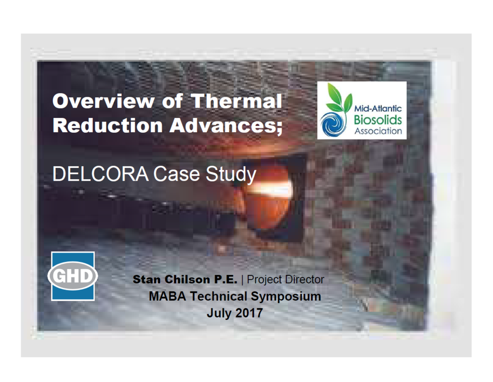 Overview of Thermal Reduction Advances and the DELCORA Case Study - Chilson Stanley, GHD