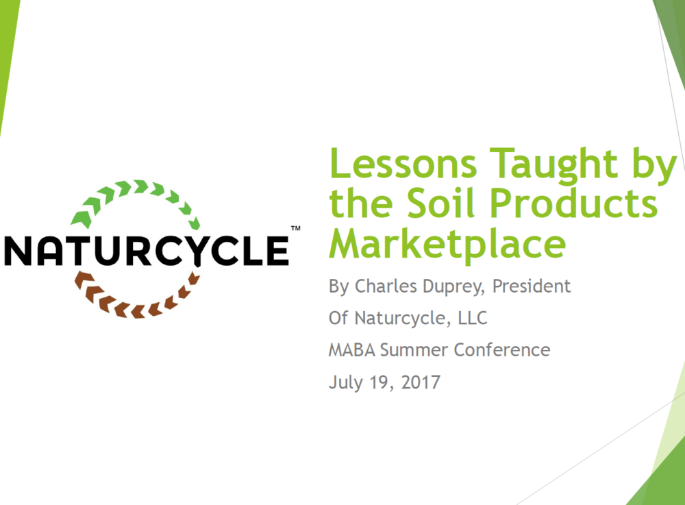 Lessons Taught by the Soil Products Marketplace