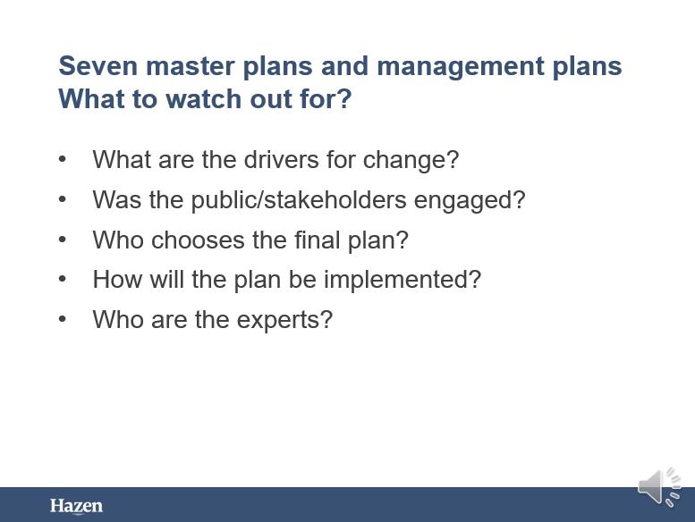 Seven Master Plans and Management Plans - Mo Abu-Orf, Hazen & Sawyer