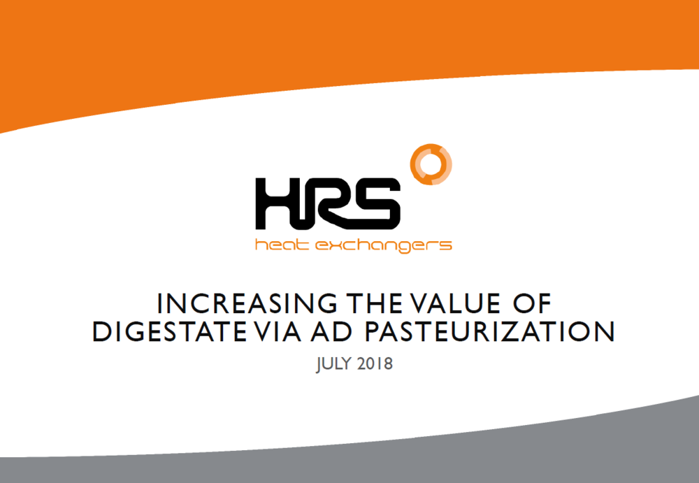 Increasing the Value of Digestate Via AD Pasteurization | Stephen Wooler, HRS Heat Exchanger