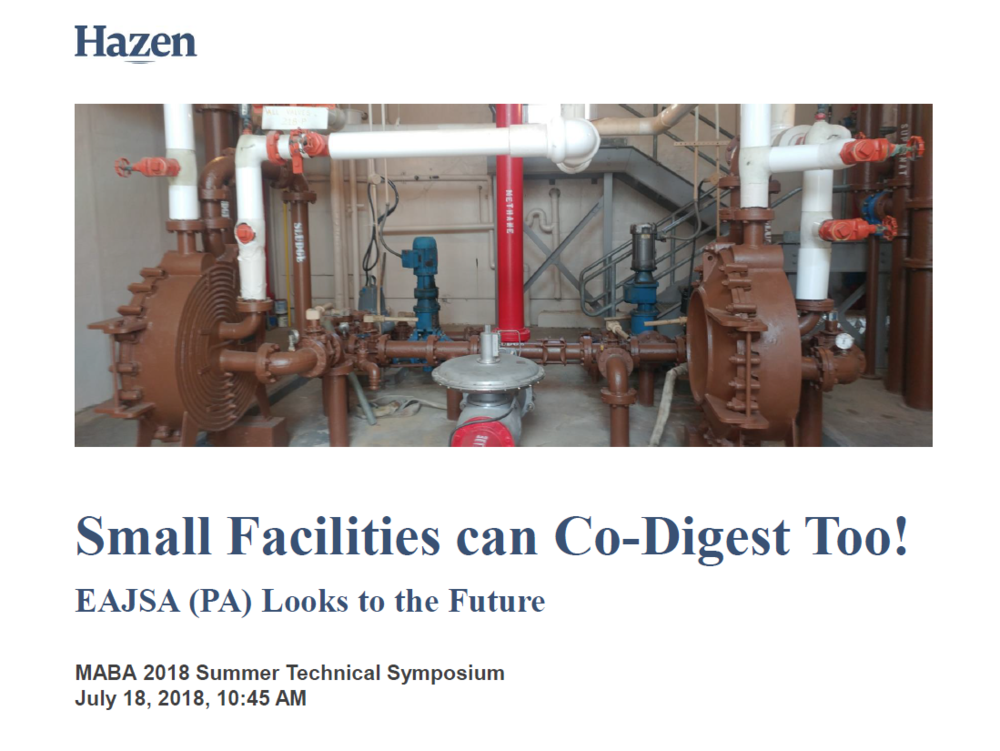Small Facilities Can Co-Digest Too! | Bottin, Hazen and Sawyer