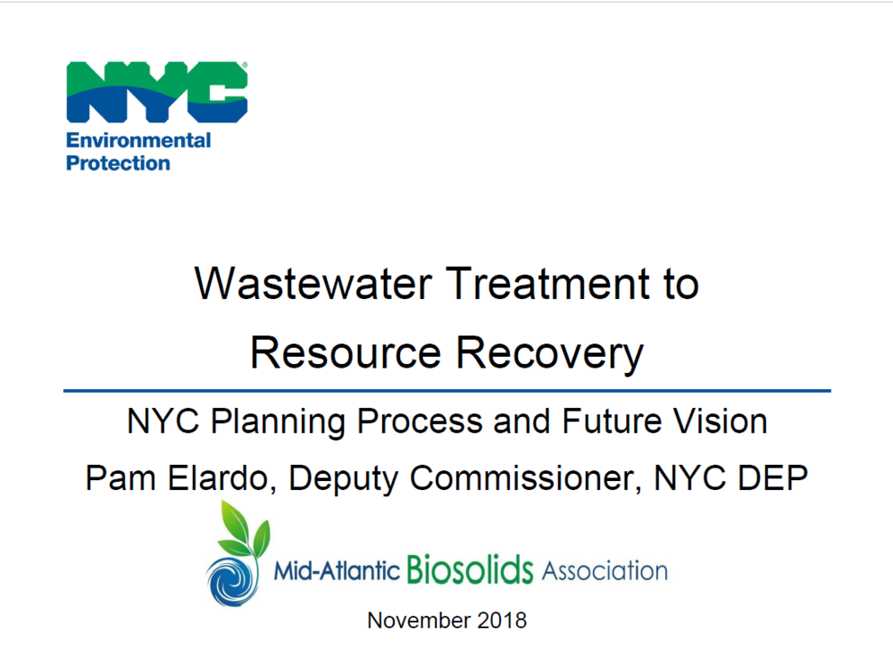 NYC Planning Process and Future Vision   Pam Elardo, NYC DEP