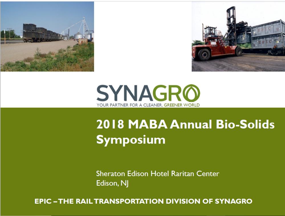 EPIC - The Rail Transportation Division of Synagro   Elliot Pomeranz, EPIC/Synagro
