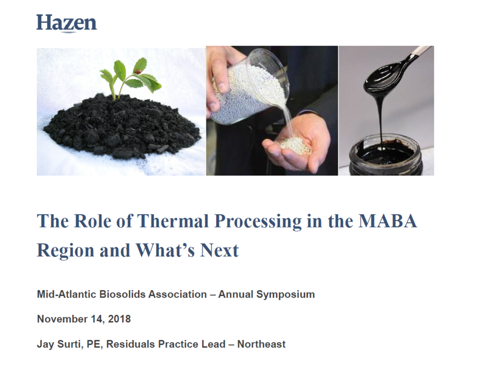 The Role of Thermal Processing in the MABA Region and What's Next   Jay Surti, Hazen & Sawyer