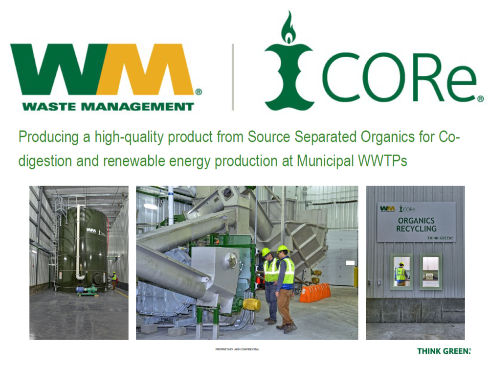 Producing a High-Quality Product from Source Separated Organics for Co-digestion and Renewable Energy Production at Municipal WWTPs   Dan Hagen, Waste Management