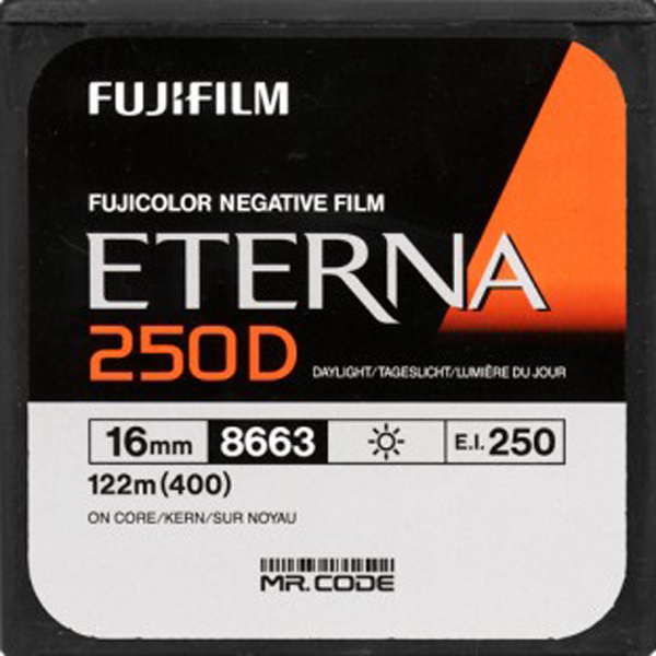 FUJI ETERNA 250D 8663 COLOR NEG 16MM $30 - 100 ft DAYLIGHT SPOOL CURRENTLY OUT OF STOCK