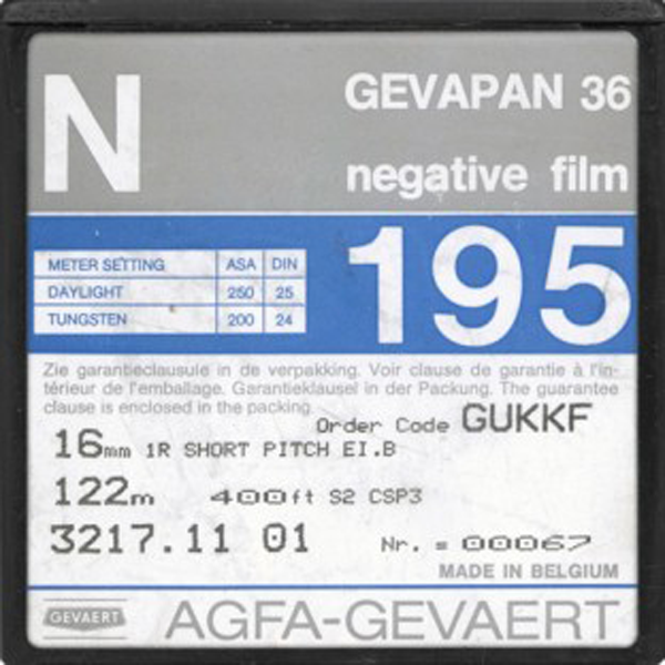 AGFA GEVAPAN 36 ASA 250 BW NEGATIVE 16MM $20 - 100ft DAYLIGHT SPOOL CURRENTLY OUT OF STOCK