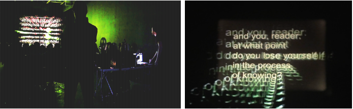 Performance Documentation and Still from Second Hermeneutic, 2013