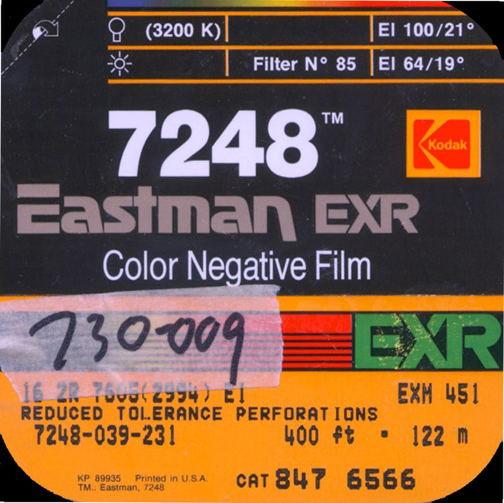 EASTMAN EXR 100T 7248 COLOR NEGATIVE 16MM $15 - 100ft DAYLIGHT SPOOL CURRENTLY OUT OF STOCK