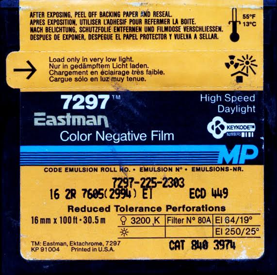 EASTMAN 250D 7297 COLOR NEGATIVE 16MM $15 - 100ft DAYLIGHT SPOOL CURRENTLY OUT OF STOCK