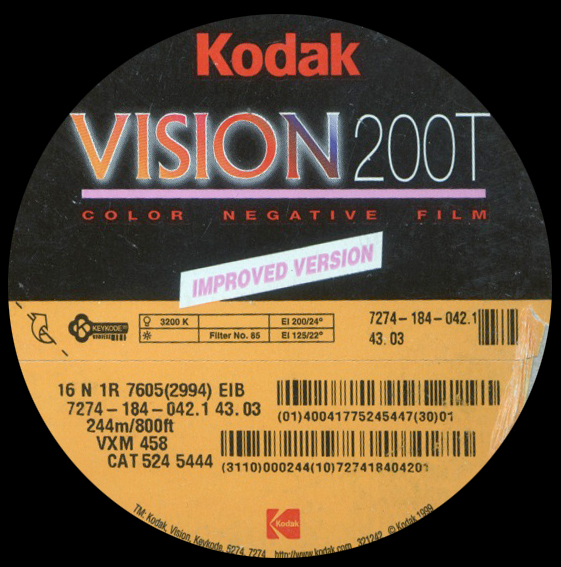 KODAK VISION 200T 7274 COLOR NEGATIVE 16MM $15 - 100ft DAYLIGHT SPOOL CURRENTLY OUT OF STOCK