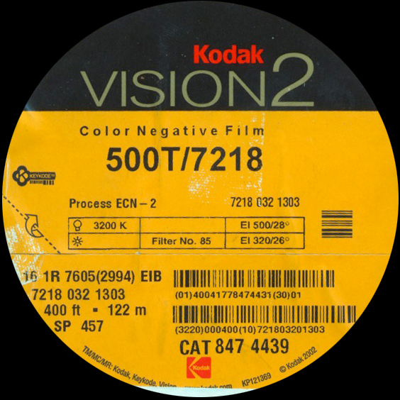 KODAK VISION2 500T 7218 COLOR NEGATIVE 16MM $15 - 100ft DAYLIGHT SPOOL CURRENTLY OUT OF STOCK