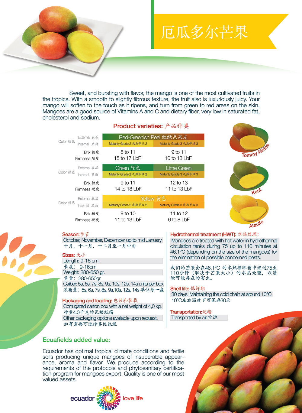 mango specifications