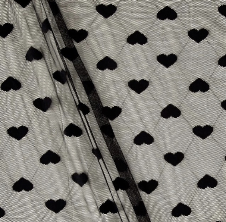 Black Heart Mesh