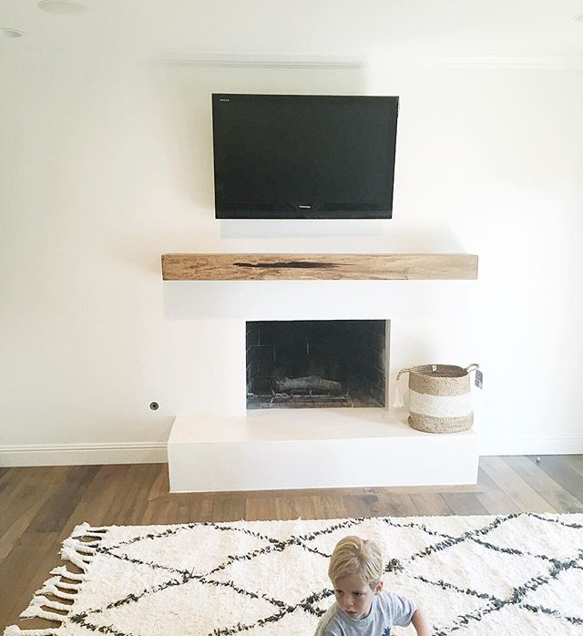 My first #fireplace makeover and super happy how it turned out! Can't wait for you to see the transformation of this room. It's going to be a good one!