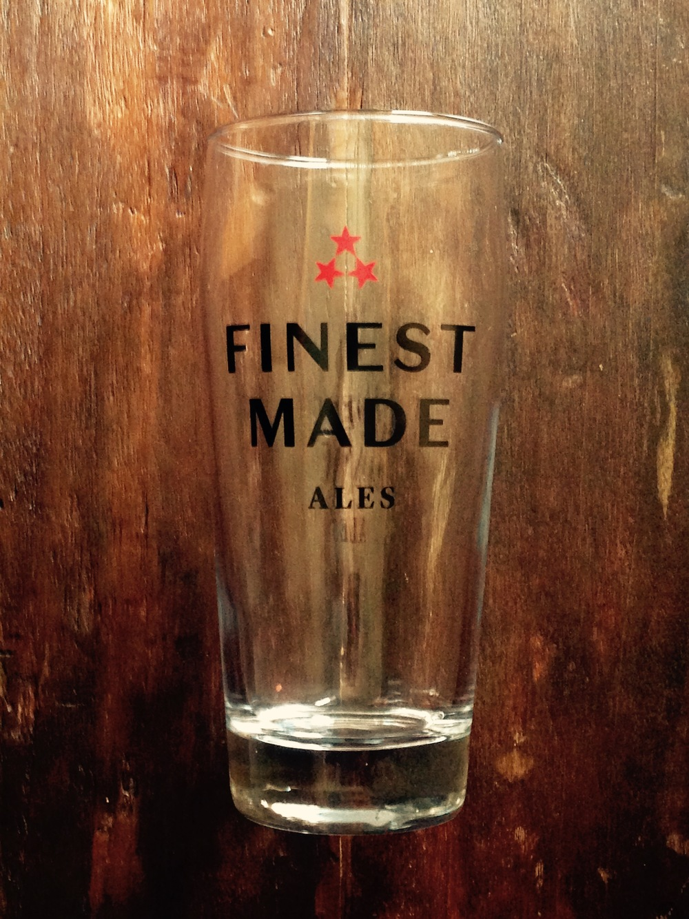 Finest Made Logo Glass ($5)