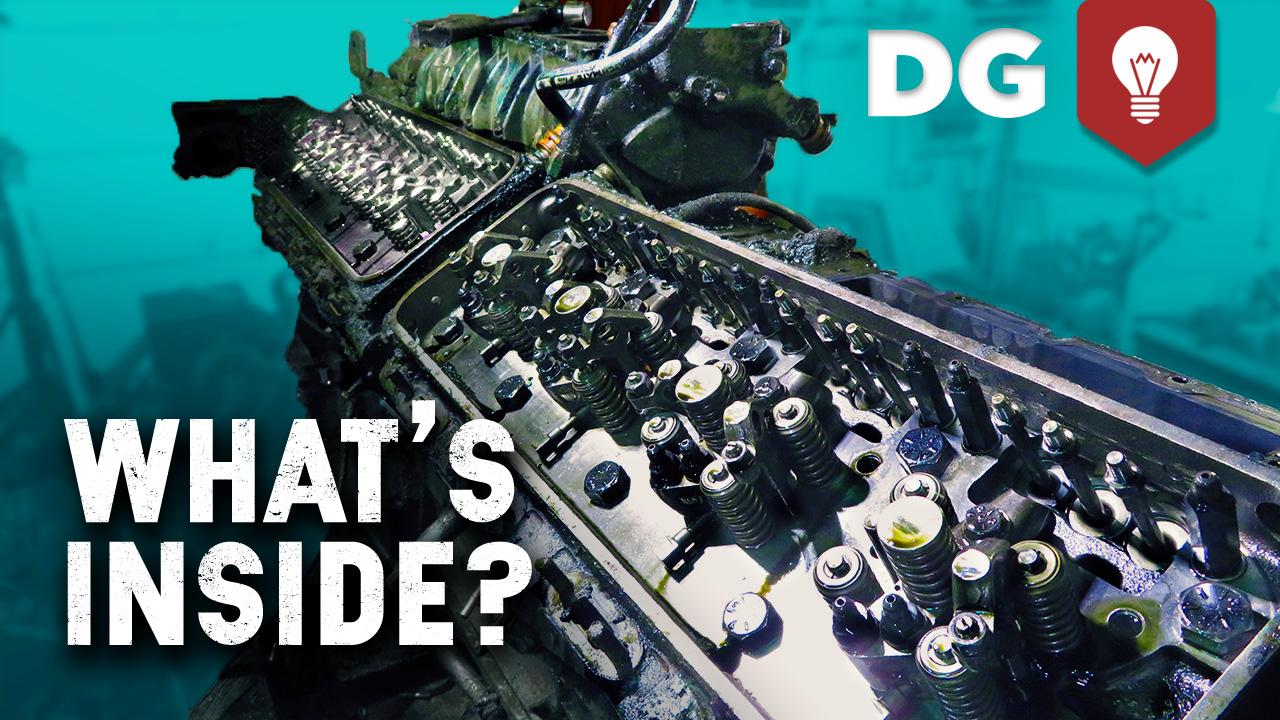 What's Inside a 16cyl 2 Stroke Detroit Diesel? #HowItWorks