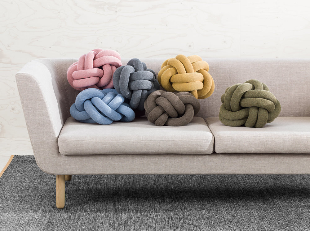 Nest Sofa Knot Cushions Design Vincent