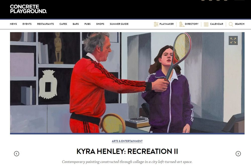 Concrete Playground's review of Kyra Henley's exhibition  Recreation II
