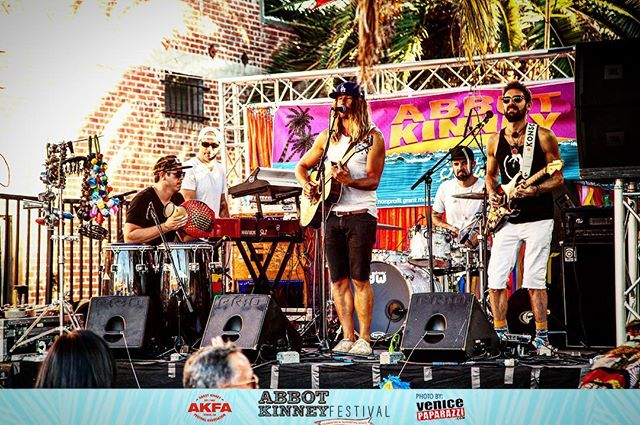 Shout out to @abbotkinneyfestival and @venicepaparazzi for the event and the capture at this years #abbotkinneyfestival !!! Can't wait to do it again!!! #brightside #brightsidevenice #venicebeachroots #venicepaparazzi #dogtown #abbotkinney #live #roots #rock #reggae #caliroots