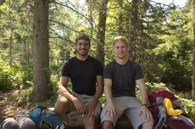 Me and Erik Doering on Isle Royale
