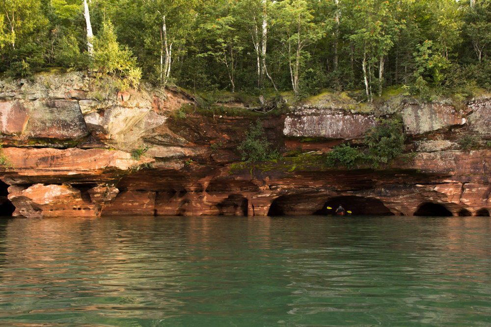 Apostle Island Sea Caves (with me for size reference)