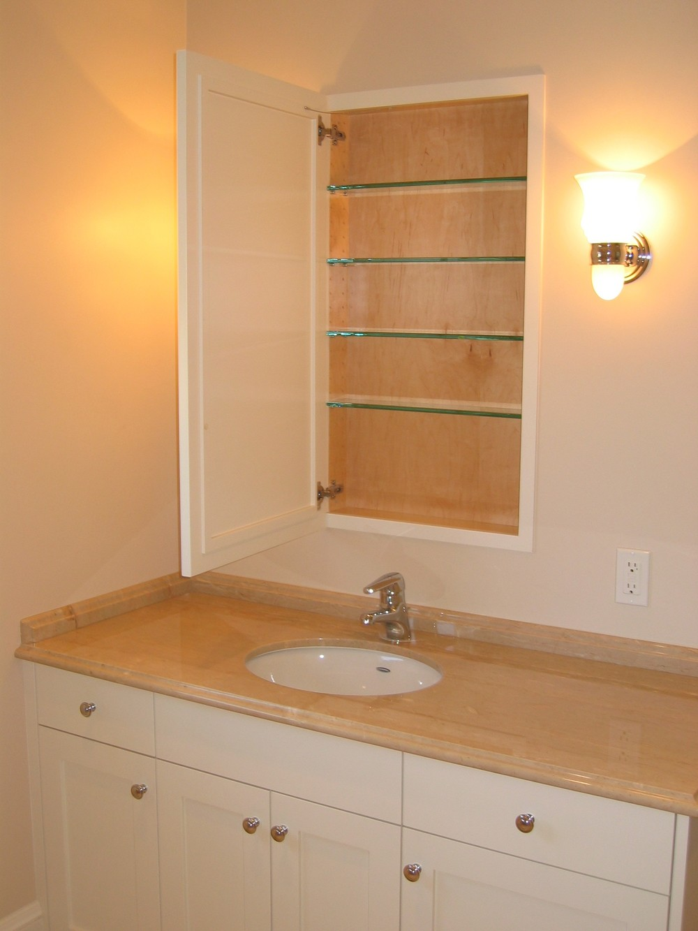 Painted Master Bath Vanity & Medicine, Piedmont CA
