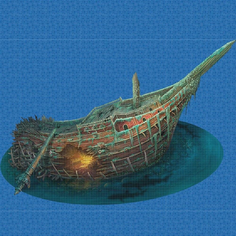 Treasure-Ship-Digital-Print-Mosaic-Ezarri.jpg