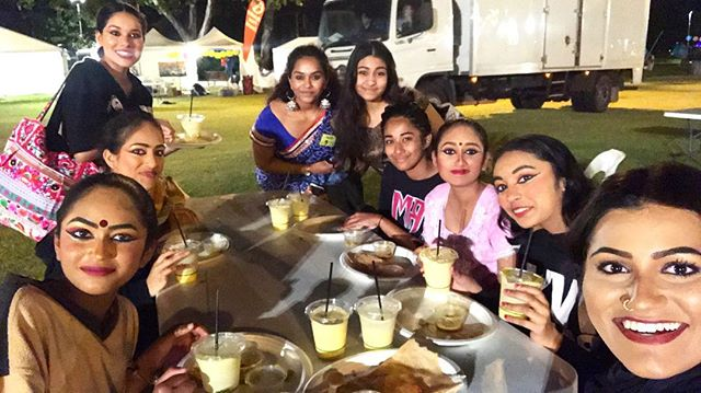 Performers from Saraswati Mahavidhyalaya enjoying their last supper of Swan Festival of Lights 2017! Thank you for another great year of celebrating Deepavali with us, Perth, good night!
